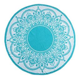 Superior Round Beach Towel, 100% Premium Cotton, 5 Stylish M