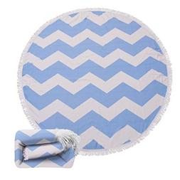 Polly House Large Round Beach Towel Blanket with Tassels Ult