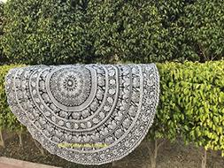 raajsee 75 inch Circle Walking Elephant Round Tapestry Hippi