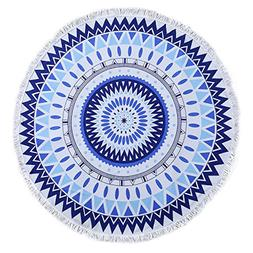 round beach towel cotton microfiber