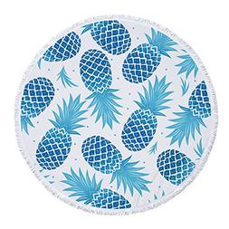Utopone Large Round Beach Towels Microfiber Pineapple with T