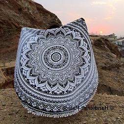 """Round 72"""" Hippie Ombre Mandala Psychedelic Wall Hanging Indi"""