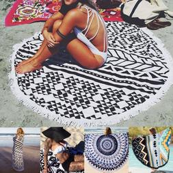Round Mandala Hippie Boho Tapestry Beach Picnic Floral Throw