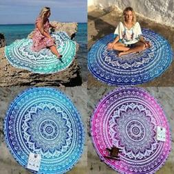 Round Mandala Indian Hippie Boho Tapestry Beach Picnic Throw