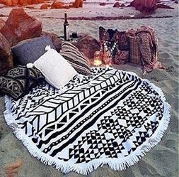 cckiise Round Mandala Tapestry Indian Wall Hanging Beach Thr