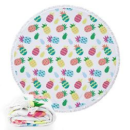 Footalk Round Roundie Tropical Pineapple Collections Beach T