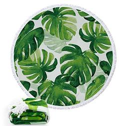 Round Roundie Tropical Pineapple Collections Beach Towels Th
