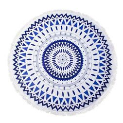 "Round Thick Terry 60"" Beach Towel 1Lb Yoga Towel Mat Blanket"
