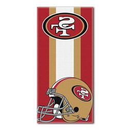 "San Francisco 49ers NFL ""Zone Read"" Beach Towel, 30-inch by"