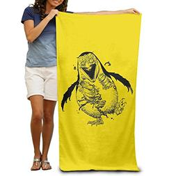 Scary Zombie Penguin Quick-drying Pool Beach Towel Travel Ba