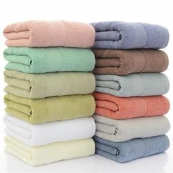 Set of 1/2/4 Luxury Large Cotton Bath Towel Gym Spa Beach To