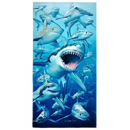 Kaufman -Shark Personalized Kids Beach, Bath, Pool Towel   3