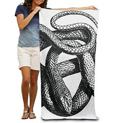 Sketch Snake Clipart Beach Towels Luxury 100% Polyester Trav