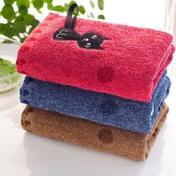 soft bath towels lovely cat beach swimming