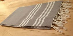 Large Quick Dry 100% Cotton Striped Turkish Peshtemal Beach