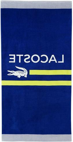 "Lacoste Sprint Beach Towel, 100% Cotton, 390 GSM, 36""x72"""