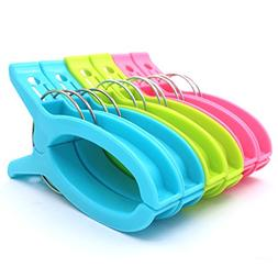 Zicome Set of 6 Super Jumbo Plastic Clips for Keeping Towels