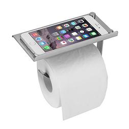 Flexzion Stainless Steel Toilet Paper Holder Stand - Dispens