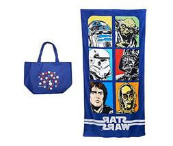 Star Wars Block Collage Beach Towel and Tote - 2 Piece Gift