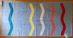 "LACOSTE STRIPE BEACH TOWEL 36"" x 72"" 100% AUTHENTIC NEW WITH"