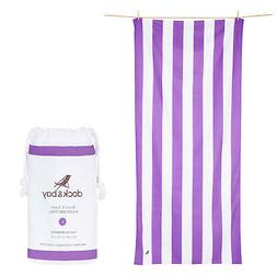 Striped Beach Towel - Compact, Quick Dry & Sand Free - Large