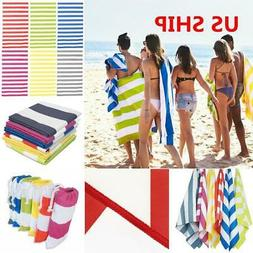 Striped EXTRA Large Microfiber Beach Towel Travel Bath Towel