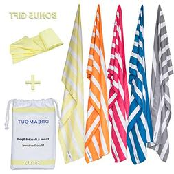 Striped Microfiber Towels, Quick Drying Towels for Beach, Po