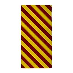CafePress - Maroon And Gold Striped - Large Beach Towel, Sof