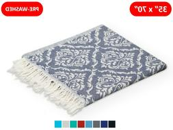 100% TURKISH COTTON BEACH TOWEL 35x70 BEACH BATH BLANKET THR