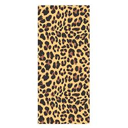 QH Summer Beach Towels Bath Towels Leopard Texture on Beach