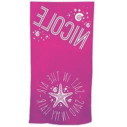 GiftsForYouNow Summer Quotes Personalized Beach Towel