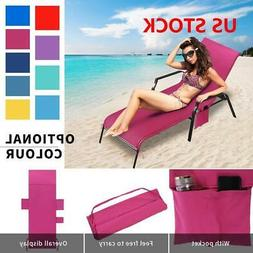 Sun Lounger Mate Beach Towel Carry With Pockets Bag For Holi