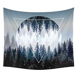 Xinhuaya Sunset Forest Ocean and Mountains Wall Hanging Tape