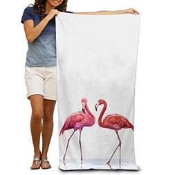 Super Absorbent Hipster Pink Lovely Flamingo Large Beach Tow