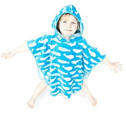 Super Soft And Thick Kids Hooded Poncho Towel For Boys And G