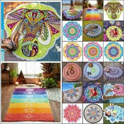 Tapestry Beach Throw Towel Boho Mandala Round Indian Hippie