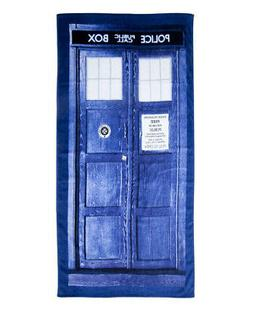 Doctor Who TARDIS Door Cotton Beach or Bath Towel