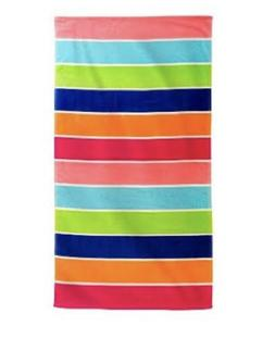 "Target Beach Towel 32"" x 62"" 100% Cotton Multi Bold Colored"