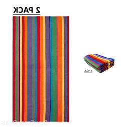 Cotton Craft - 2 Pack Terry Beach Towel 30x60 - Summer of Si