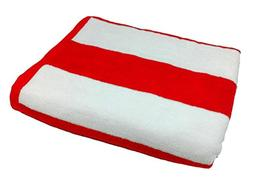 byLora Terry Cotton Cabana Beach Towels, RED/WHITE