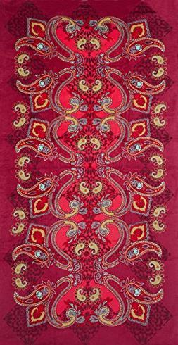 Terry Velour Beach Towel, 40X70
