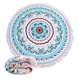 Genovega 23 Options Thick Round Beach Towel Blanket - Indian