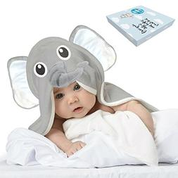 Baby Toddler Towels with Elephant Hood for Kids - Large Soft
