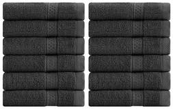 12 Pack Towel Set Luxury Cotton Washcloth 12x12 Inch Also in