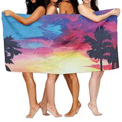 Tropical Beach Sunset Adult Soft Microfiber Printed Beach To