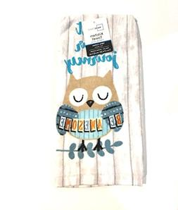 Trust Your Journey Be Awesome! Owl Print Towel