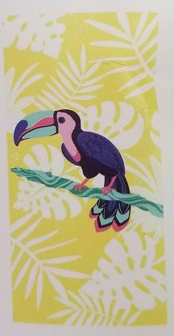 Tucan Yellow Beach Towel - 28 x 58 inches - 100% Cotton