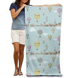 Turkey Hot Air Balloon Beach Towels Luxury 100% Polyester Sw
