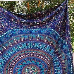 Twin Wall Tapestries - Hanging MANDALA Tapestry – Bohemian
