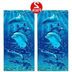Kaufman Sales - Twister Dolphins Beach Towel  - 2 Pack Set